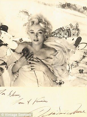 This 1956 signed photograph of Marilyn Monroe by Cecil Beaton is selling online for a staggering £19,500.00