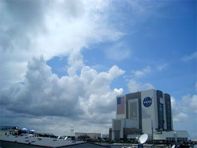 The weather above Kennedy Space Center in Florida on Saturday, July 1st.