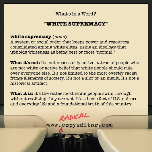 What's in a Word: white supremacy