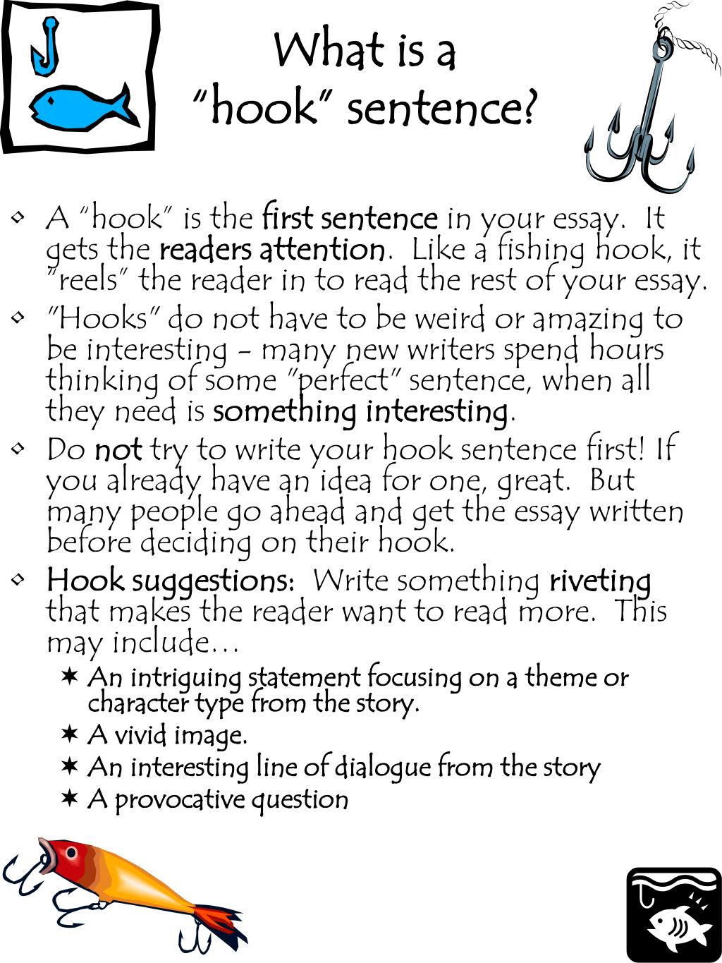 how to write a hook for an analytical essay