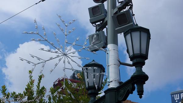 Disneyland Resort, Disney California Adventure, Buena Vista Street, Christmas Time, Christmas, 2014, Snowflake, Light