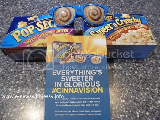 Have you tried the new Pop Secret sweet n' crunchy cinnamon roll popcorn #Cinnavision - E-News with Jessy