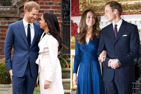 Compare Meghan Markle and Kate Middleton's Engagement