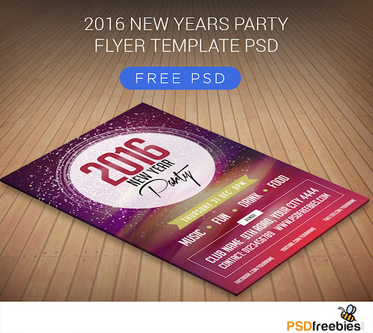 2016 New Years Party Flyer Free PSD - PSDFreebies.com