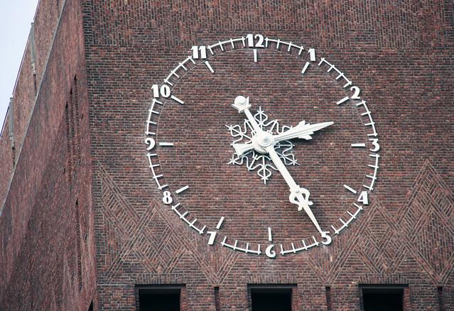 IMG_2760 Oslo City Hall clock