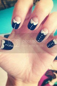 peter pan collar nail art, tutorial, nail art blog
