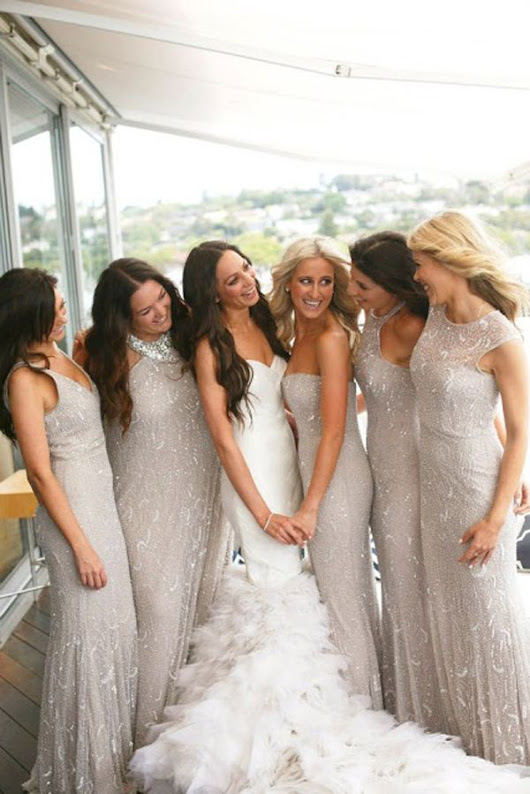 This summer let your bridesmaids shine with shimmer and sequins