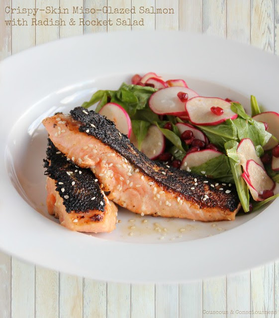 Crispy-Skin Miso-Glazed Salmon 1