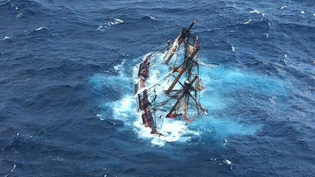 the Bounty sinking