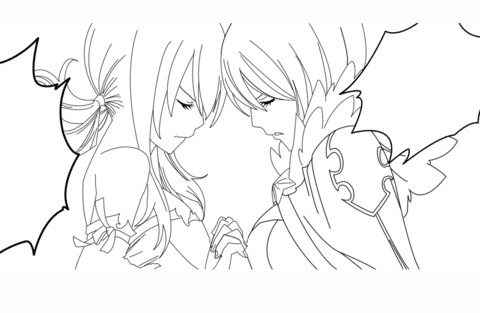 Coloriage Yukino Agria Et Lucy Heartfilia De Fairy Tail Manga