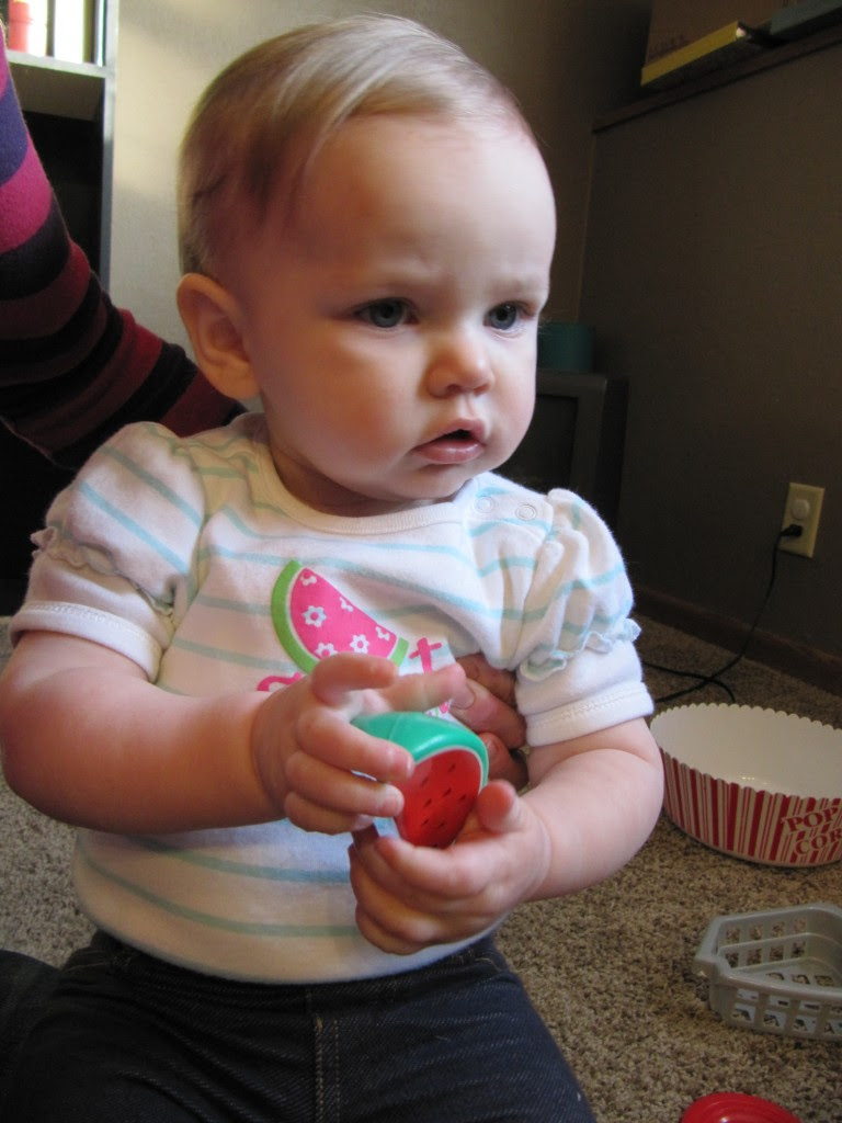 Lookey there... I'm holding a watermelon and I have a watermelon on my shirt!