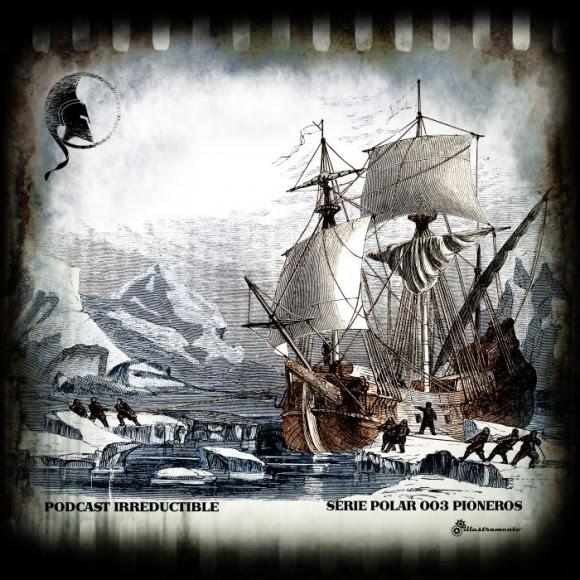 Podcast Irreductible, Serie Polar 003 – Pioneros | Ilustración realizada por Illustramento