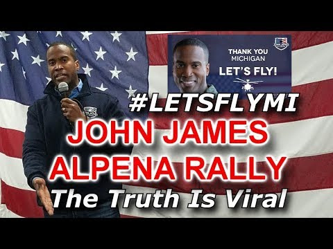 Exciting John James Rally In Alpena Michigan; Mail Bomber Caught!