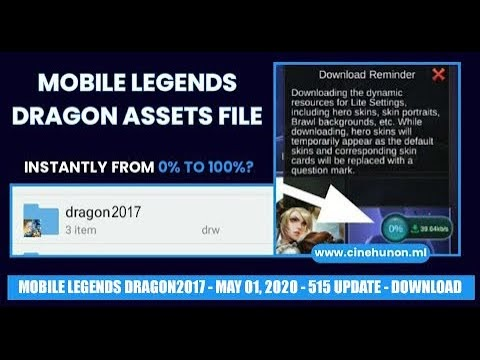 "DOWNLOAD MOBILE LEGENDS ""DRAGON"" ASSETS/RESOURCE FILE/FOLDER 