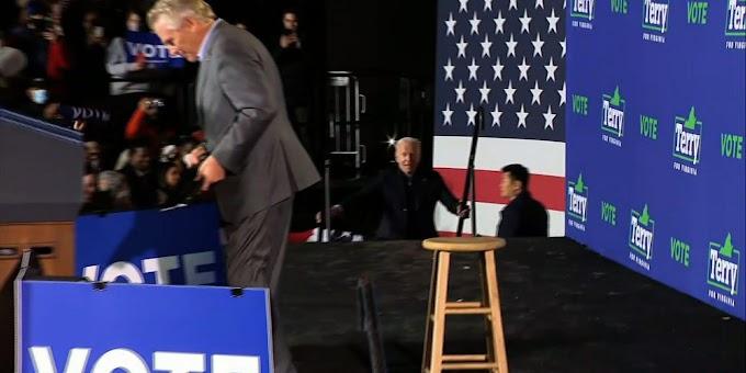 Biden links Va. GOP governor candidate to Trump