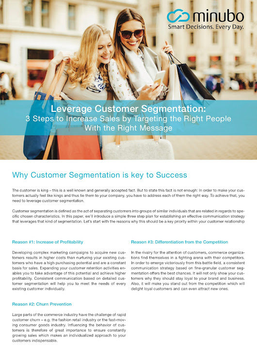 New WhitePaper: Leverage Customer Segmentation – 3 Steps to Increase Sales by Targeting the Right People With the Right Message