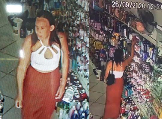 Furto foi flagrado por câmeras de segurança da loja em Valente | | Foto: Reprodução/Redes Sociais