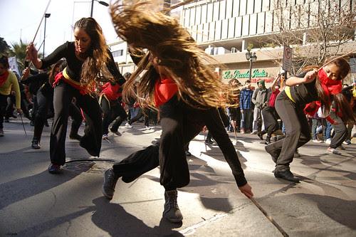 Banda Chinchin Tirapie, movimiento estudiantil. by Manuel Venegas