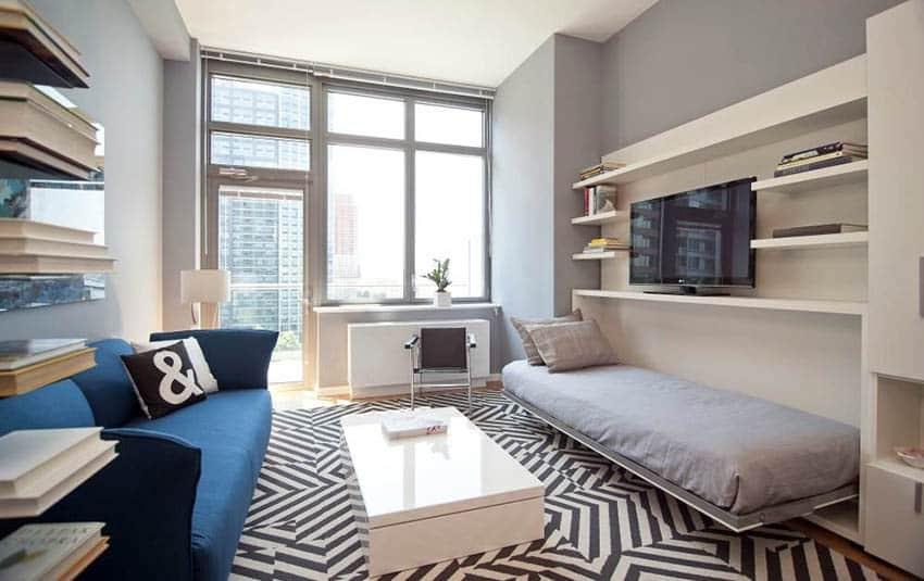 Living Room Bedroom Combo (Design Ideas) - Designing Idea