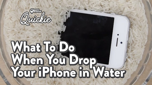 What To Do When You Drop Your iPhone In Water | Above Average Quickies