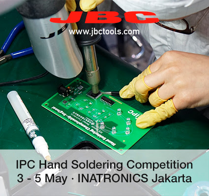 Events, JBC is sponsoring the IPC Hand Soldering Competition in Indonesia - JBC Soldering Tools