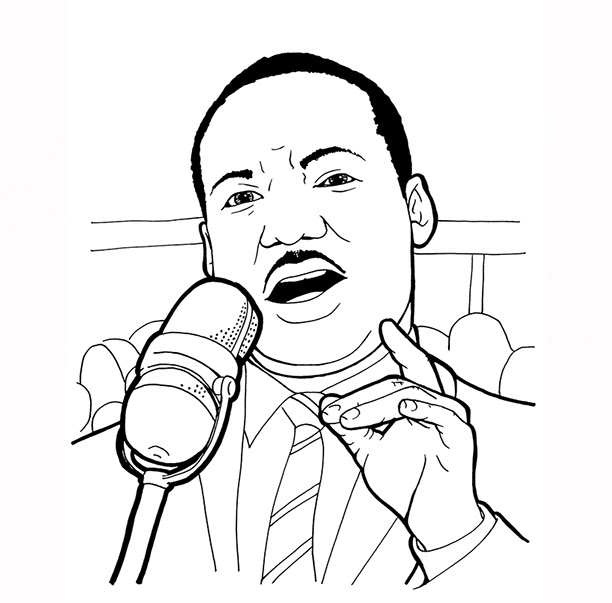Martin Luther King Jr Coloring Pages Free - Coloring Pages ...