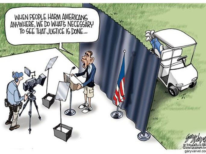 Image result for obama golf cartoons