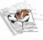 Parson Russell Terrier Dog Intarsia or Yard Art Woodworking Pattern - fee plans from WoodworkersWorkshop® Online Store - Parson Russell Terrier Dog,dogs,pets,animals,yard art,painting wood crafts,scrollsawing patterns,drawings,plywood,plywoodworking plans,woodworkers projects,workshop blueprints
