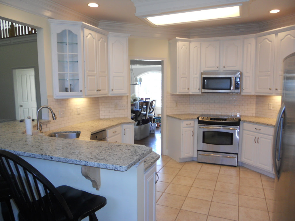 Hutchins Cool White Painted Kitchen Cabinets - Vintage ...