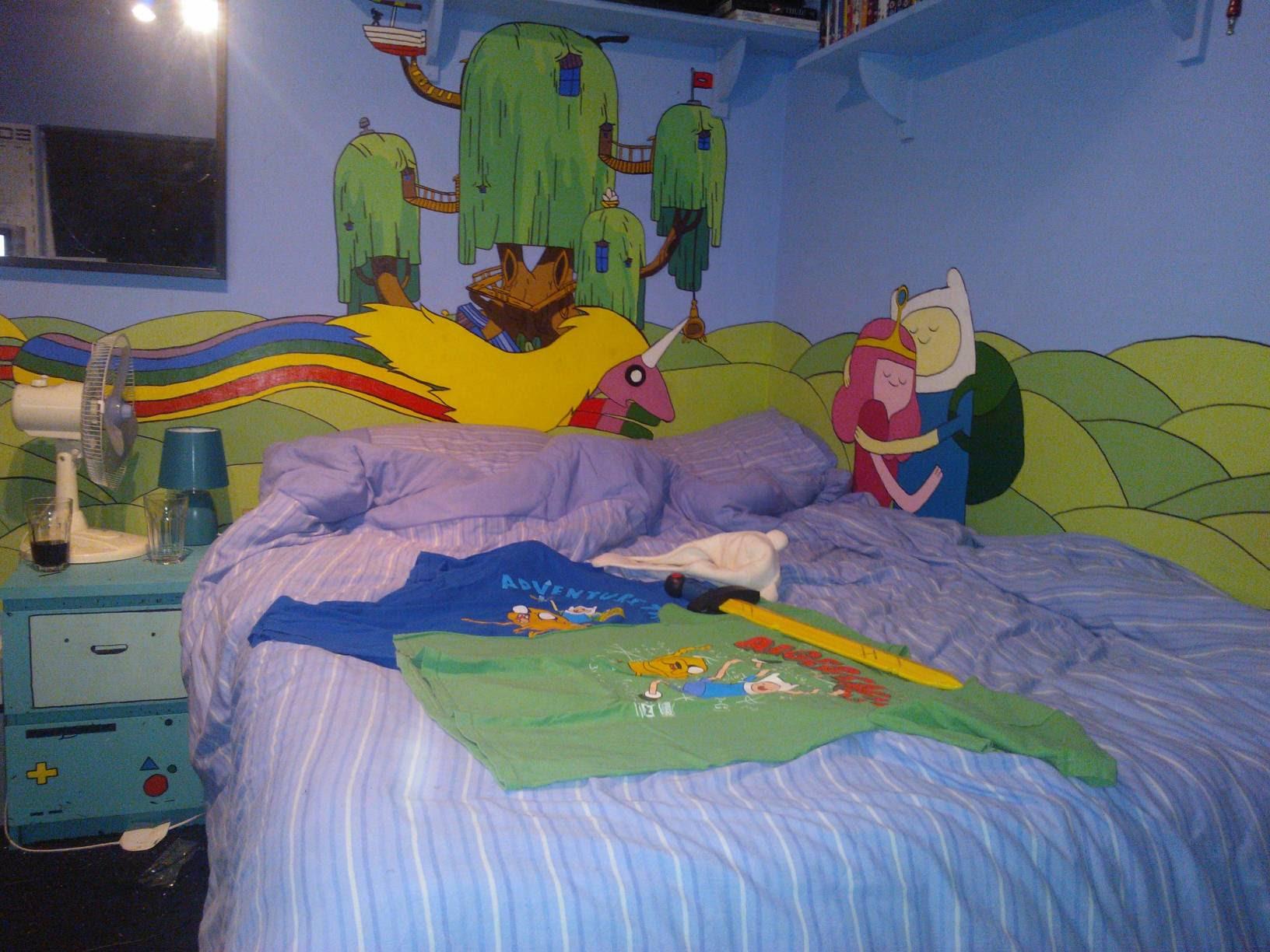 Adventure Time Bedroom Wallpaper