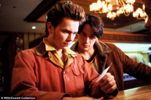 Up and coming: River's career shifted when he starred as a gay street hustler in Gus Van Sant's My Own Private Idaho, left, and many believe he passed before his acting prime. In the book, it's revealed that he considering quitting