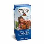 Organic Valley Single Serve Aseptic Milk - White 1% - Case of 12 - 6.75oz Cartons