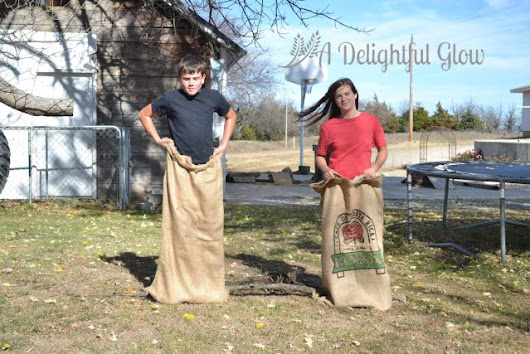 Wherein We Have A Burlap Bag Race * A Delightful Glow