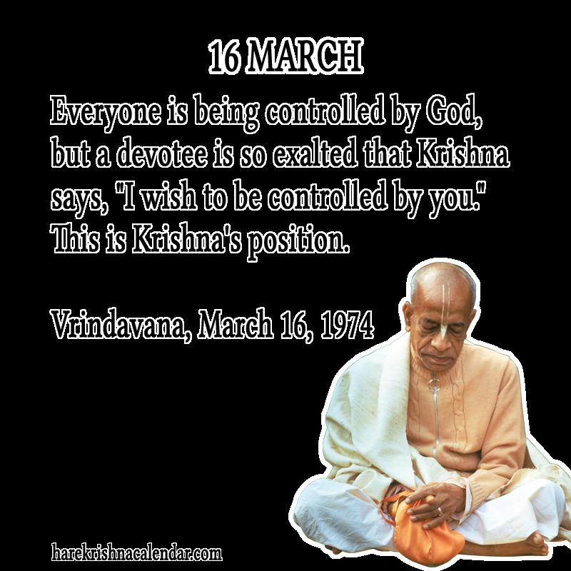 Srila Prabhupadas Quotes For 16 March Hare Krishna Calendar