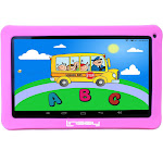 Linsay Kids Funny Learning Tablet - with Pink Defender Case - 10.1""