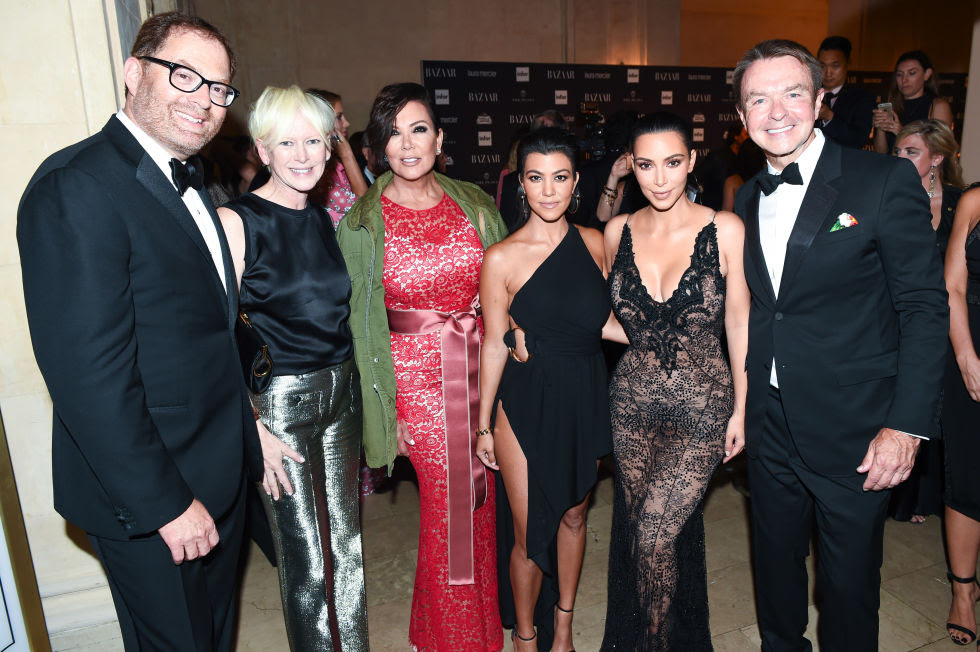 David Carey,Joanna Coles,Kris Jenner,Kourtney Kardashian,Kim Kardashian West andMichael Clinton