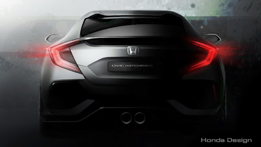 Honda Teases Geneva-Bound Civic Hatchback Prototype