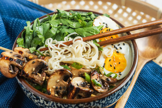 Grilled Mushroom Noodle Bowls — South Mill Mushroom Sales | Fresh Mushrooms, Produce, and More!