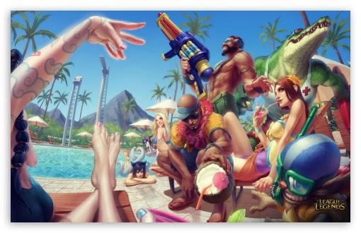 Pool Party League Of Legends Uhd Desktop Wallpaper For 4k