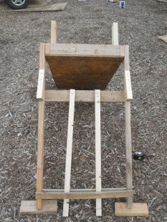 Goat Milking Stand Back Cross Piece and Feeder Shelf Braces