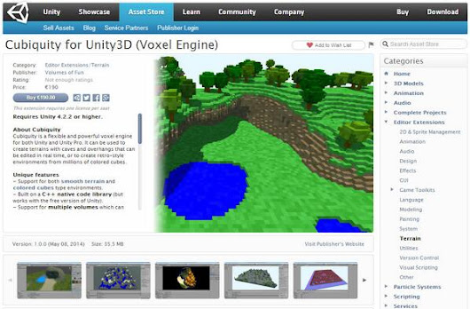 Cubiquity for Unity3D is now on the Asset Store! - Volumes Of Fun
