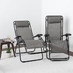 Caravan Global 2 Piece Infinity Zero Gravity Chair, Gray