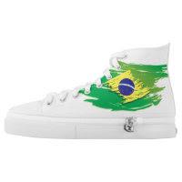 brazil Zipz High Top Shoes, US Men 4 / US Women 6 Printed Shoes