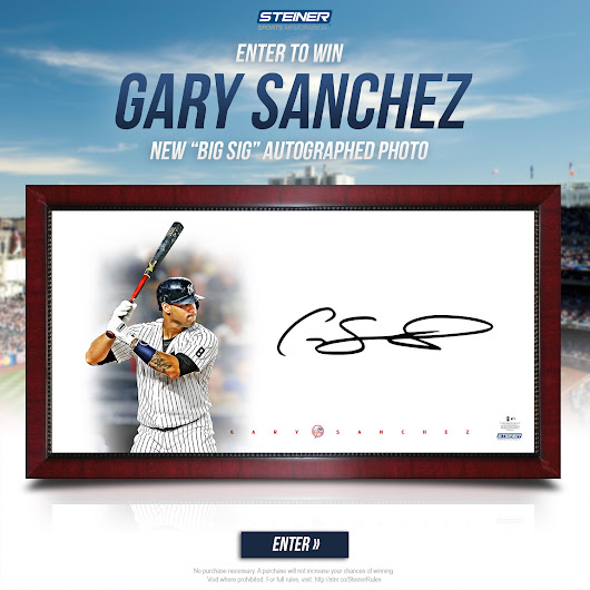 Gary Sanchez Big Sig Photo Giveaway