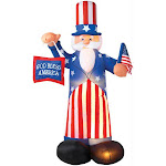 Costumes for all Occasions SS4850910G Uncle Sam Airblown 6 Feet Tall