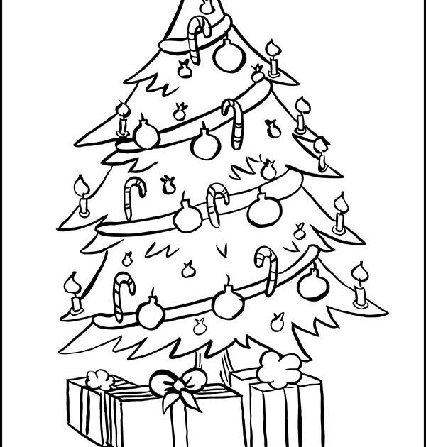 ausmalbilder weihnachten tannenbaum malvorlage