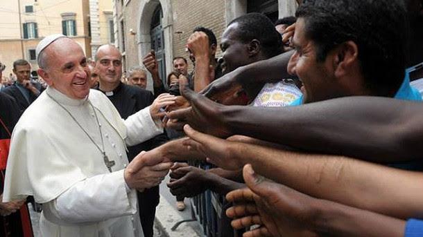 Αποτέλεσμα εικόνας για the pope and refugees