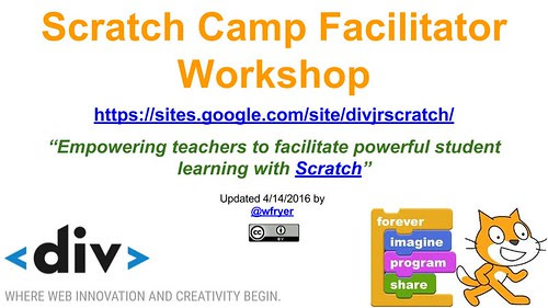 Scratch Camp Facilitator Workshop (April 2016)