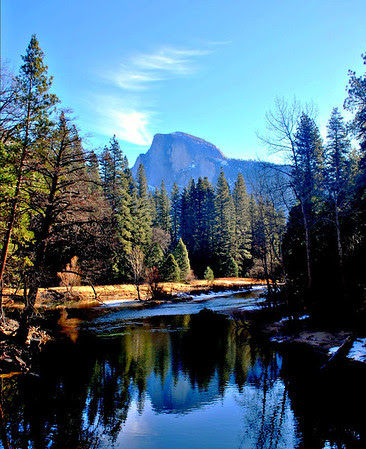 Half Dome from Sentinel Bridge in Yosemite Valley