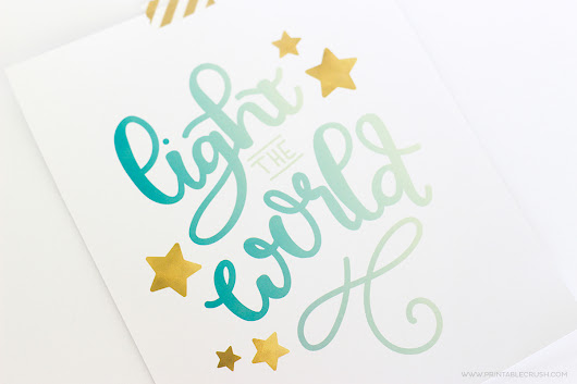 Light the World Christmas Hand Lettering Practice Guide - Printable Crush